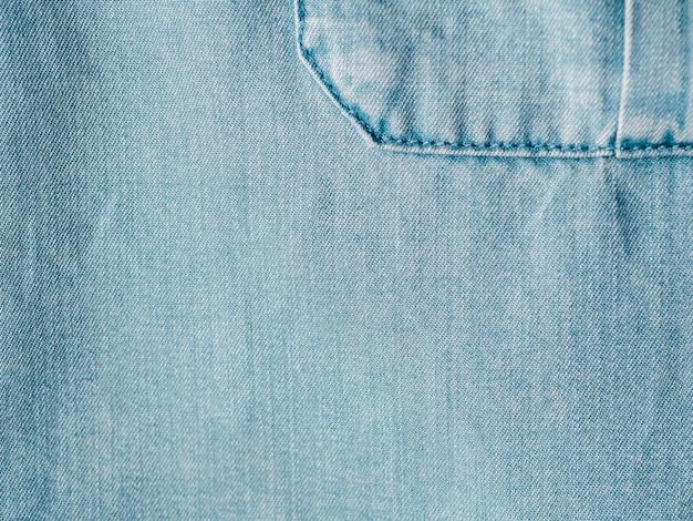 Lyocell o tencel textura de fondo de mezclilla azul Foto Premium