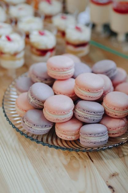 Macarons, deliciosos, dulces Foto Premium
