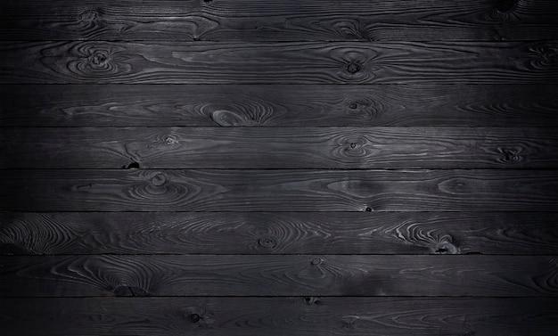 Madera negra, textura de tablones de madera vieja Foto Premium