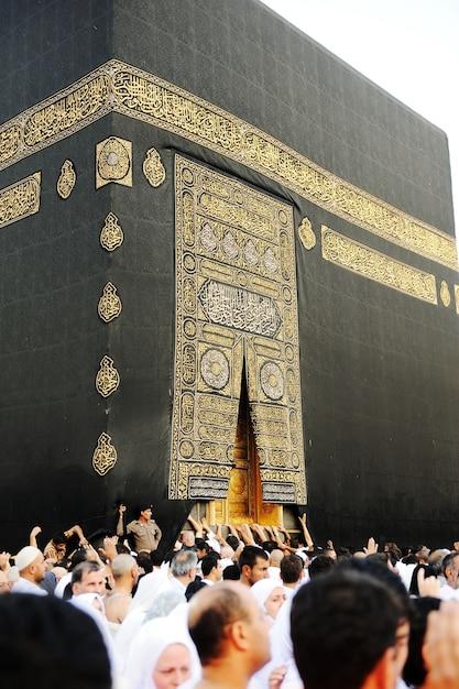 Makkah kaaba hajj musulmanes Foto Premium