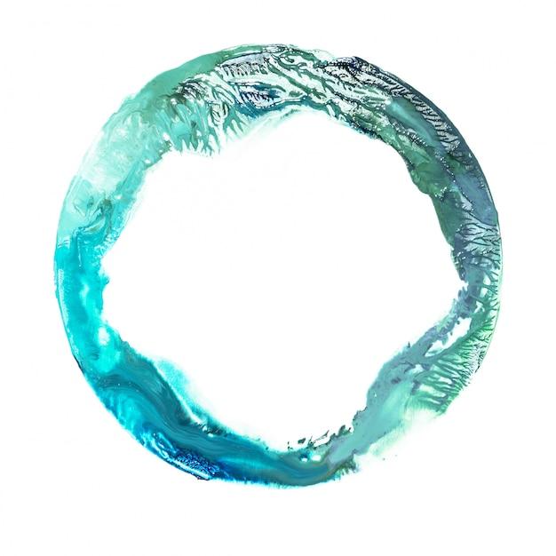 Mancha de acuarela azul y verde. Foto gratis