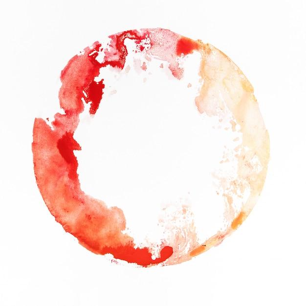 Mancha de acuarela roja y amarilla. Foto gratis