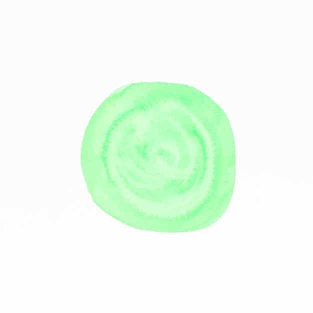 Mancha de acuarela verde aislado sobre fondo blanco Foto gratis