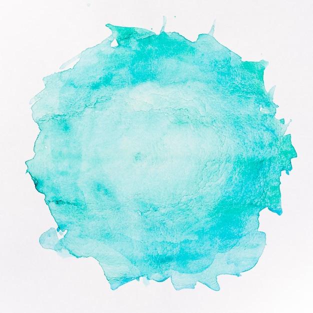 Mancha azul redonda fondo acuarela Foto gratis