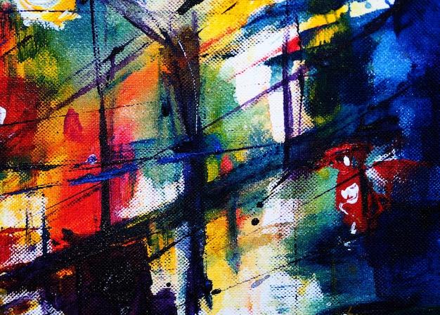 Mano dibujar colorido fondo abstracto acuarela y texturado Foto Premium