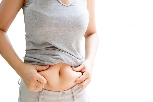 gran aumento de peso del vientre gordo