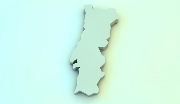 Mapa 3d de portugal Foto Premium