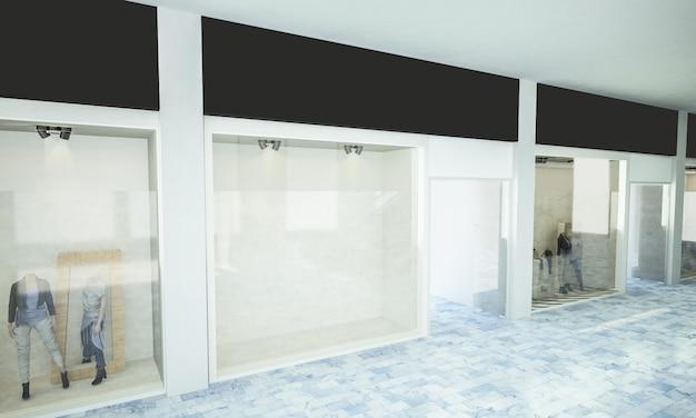 Maqueta de escaparate en centro comercial Foto Premium