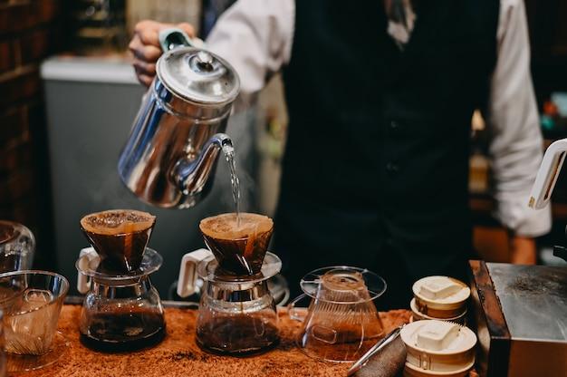 1 porci/ón taza de caf/é de cer/ámica hecha a mano No 101 filtro de caf/é taza de filtro de caf/é por goteo manual