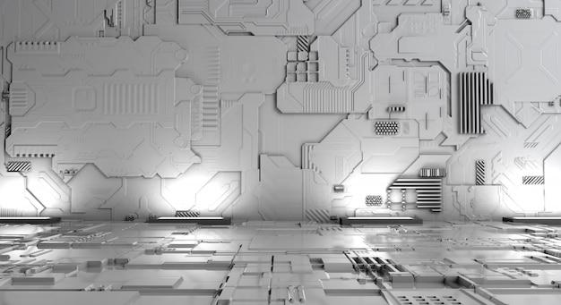 Máquina futurista del fondo blanco abstracto Foto Premium