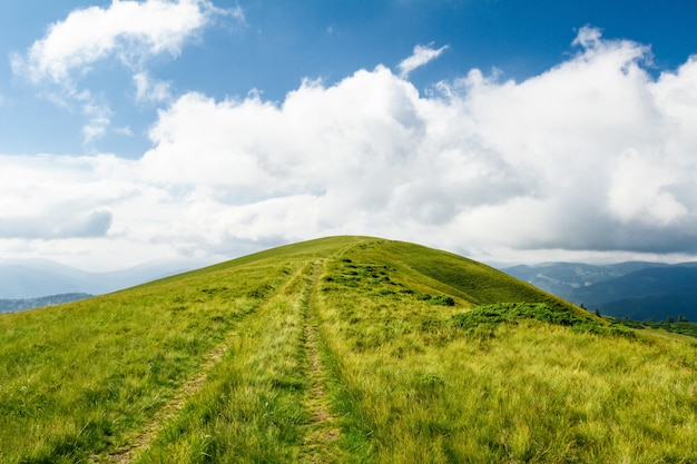 Maravilloso paisaje de montañas de los cárpatos ucranianos. Foto gratis