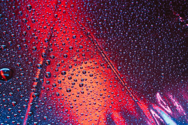 Marco completo del patrón abstracto de burbujas transparentes sobre fondo brillante Foto gratis