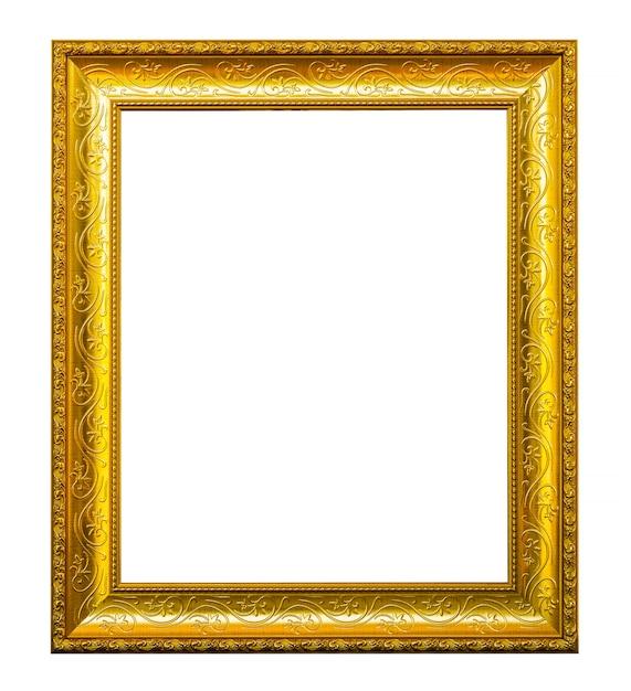 Marco dorado con dibujos descargar fotos premium for Marcos de fotos dorados
