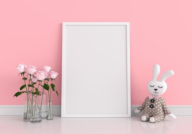 Marco de fotos en blanco para maqueta Foto Premium