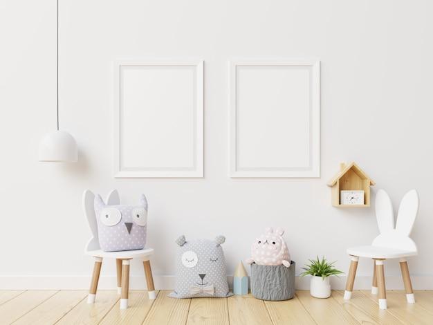 Marco interior de habitación infantil blankin. Foto Premium