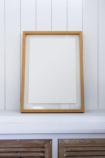 Marco de madera de la decoración para usted cartel o fotografía ...
