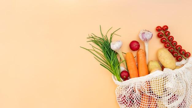 Marco plano de verduras Foto gratis