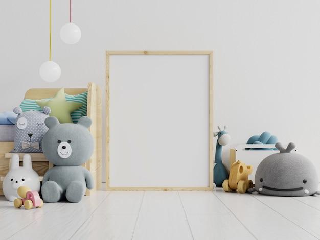 Marco de póster en habitación infantil, habitación infantil, guardería Foto Premium