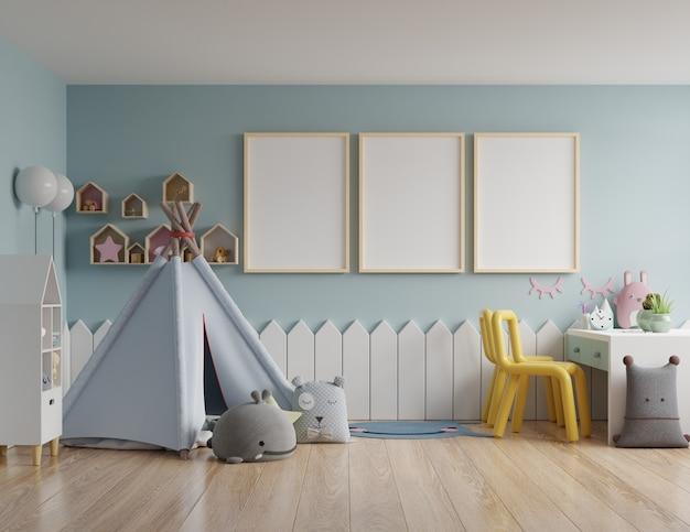 Marco de póster en la habitación de los niños Foto Premium