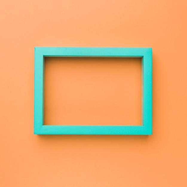 Marco rectangular verde vacío Foto gratis