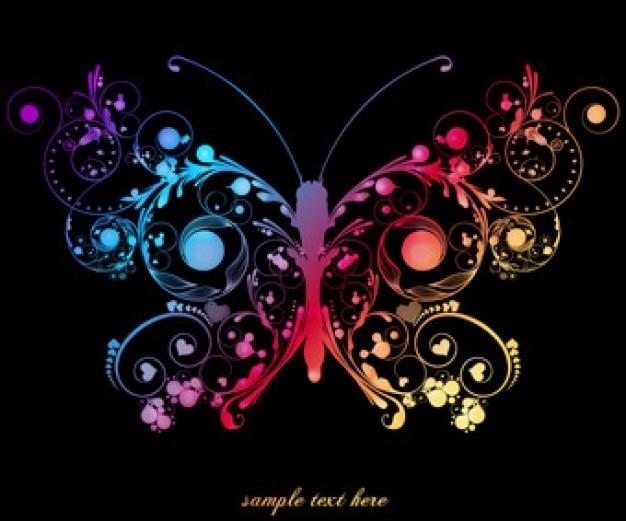 mariposa florales abstractos | Descargar Vectores gratis