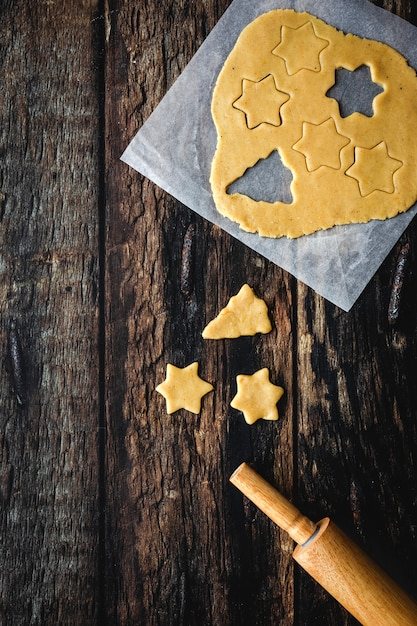 Masa de galleta de jengibre para navidad Foto Premium