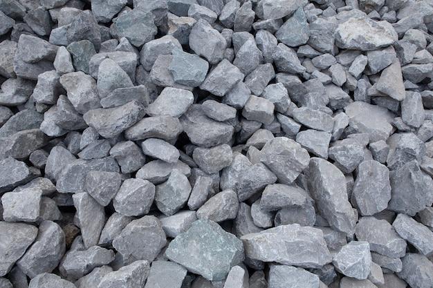 Materiales de construcción de piedra triturada Foto Premium
