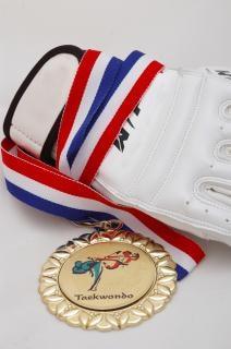 Medalla de oro - taekwondo, podio Foto gratis