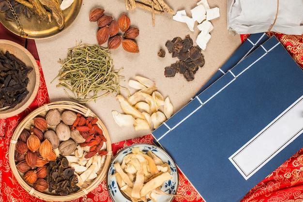Medicina tradicional china, œlibros de medicina china Foto Premium