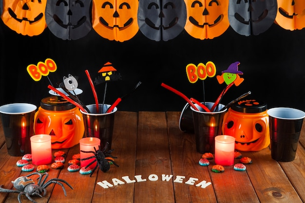 Mesa de decoracin de halloween Descargar Fotos gratis
