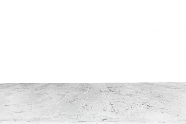 Mesa hecha con tablones blancos sin fondo Foto gratis