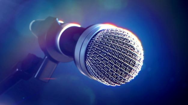 Micrófono en el escenario Foto Premium
