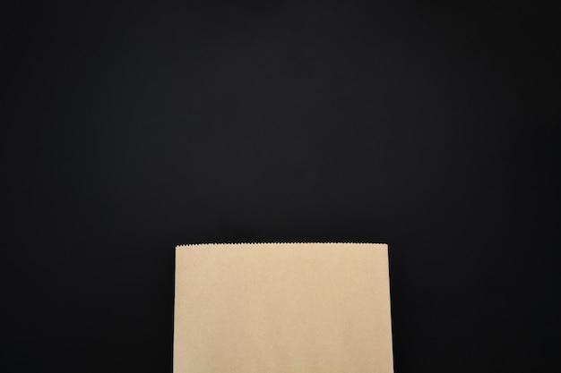 Mock up de papel marrón en blanco Foto Premium