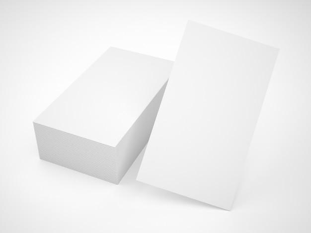 Mockup de pila de tarjetas de visitas blancas Foto gratis