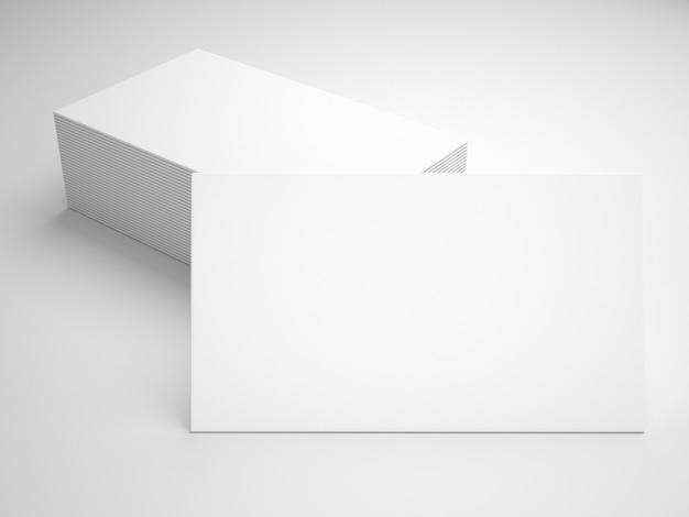 Mockup de presentación de tarjetas de visita blancas Foto gratis