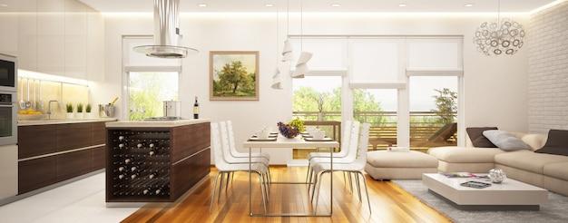 Moderna sala interior Foto Premium