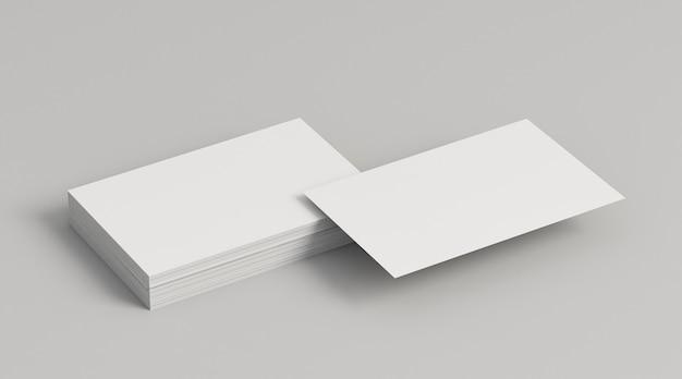 Montones de tarjetas de visita de espacio de copia Foto gratis