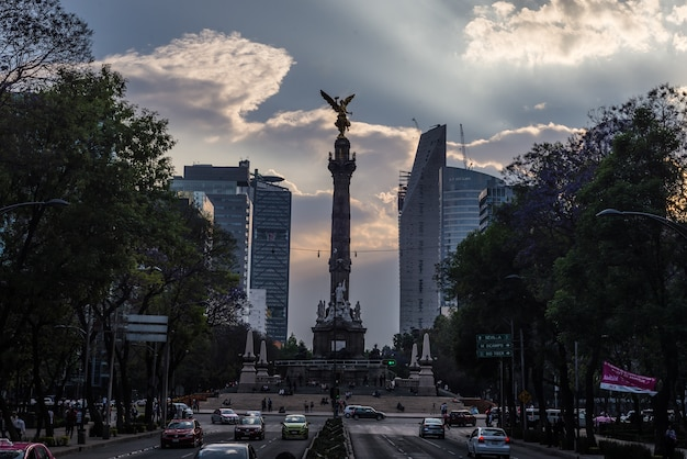Monumento a la independencia ángel méxico Foto Premium