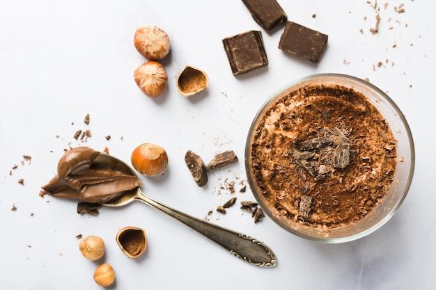Mousse de chocolate Foto gratis