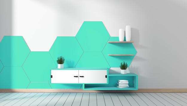 Mueble tv en habitacion Foto Premium