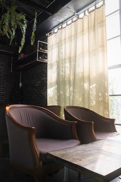 Muebles de estilo vintage en la sala de estar Foto Premium