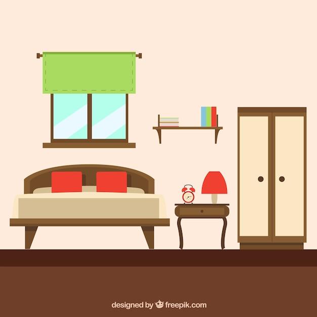 Muebles para el hogar fuera de moda Vector Gratis
