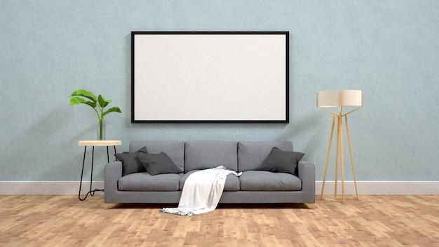 Muestre la maqueta del cartel en la representación de la pared 3d Foto Premium
