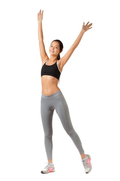 Mujer asiática fitness Foto Premium