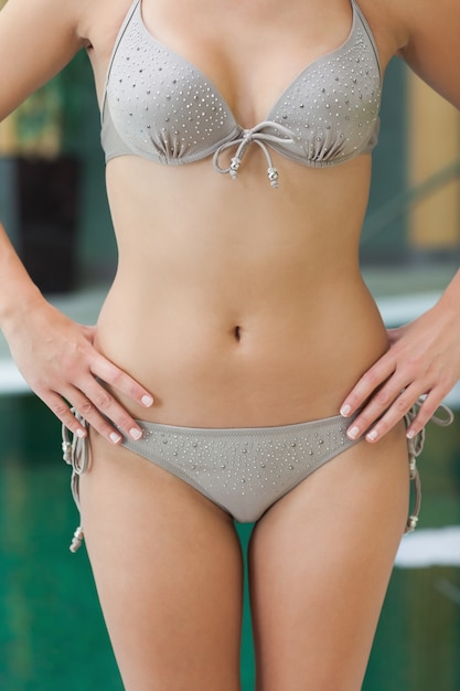 dc1b5a39682b Mujer en bikini gris | Descargar Fotos premium