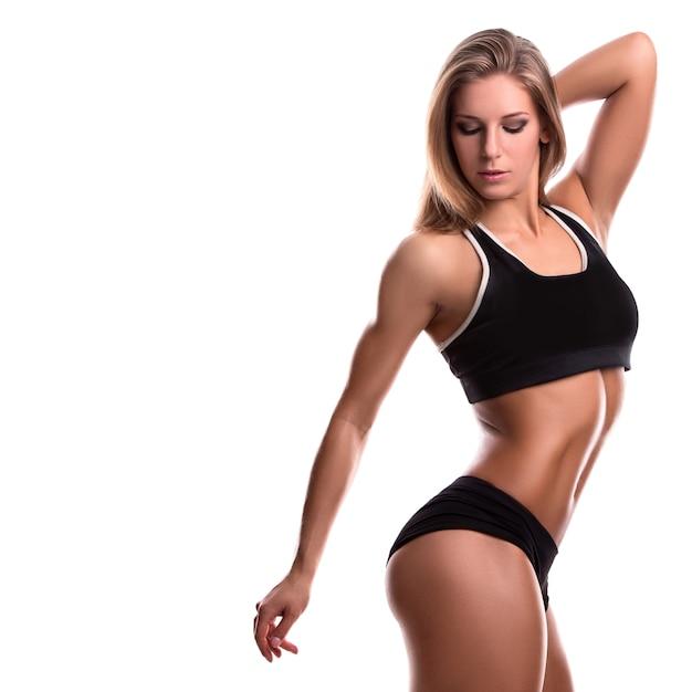Mujer fuerte fitness Foto Premium