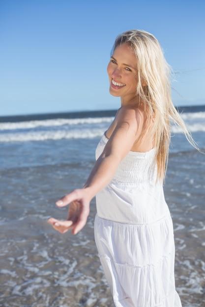 Vestidos blancos playa mujer