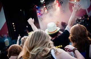 Multitud en un concierto Foto gratis