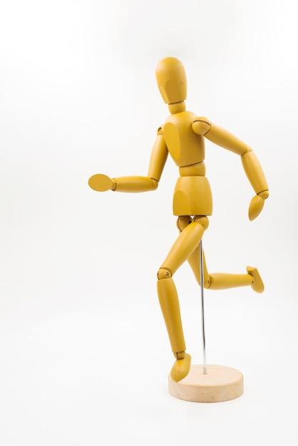 Muñeco clásico con diferentes posturas Foto gratis