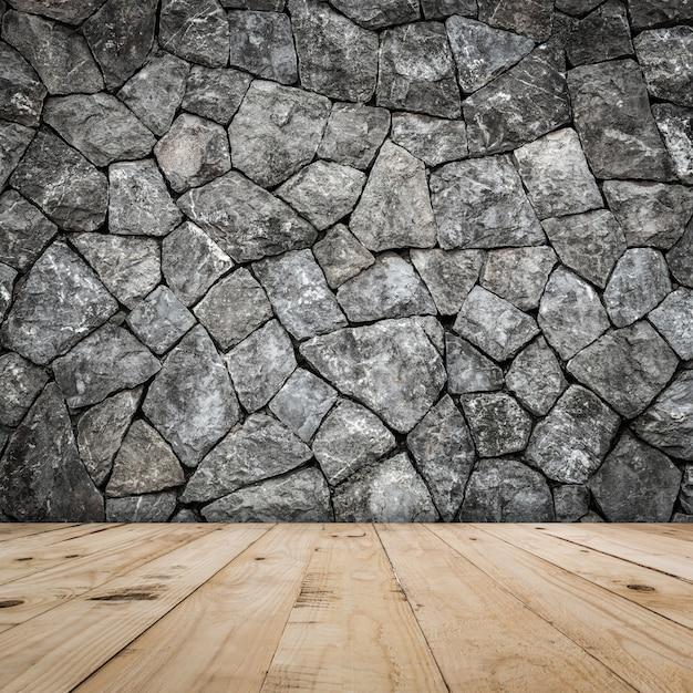 Muro de piedra para el interior de la habitaci n con piso for Piedra para muros interiores